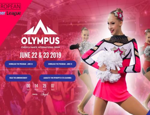 Olympus Cheer & Dance International Open 2019– Ώρα προσέλευσης και εμφάνισης