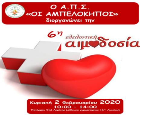 6η Εθελοντική Αιμοδοσία